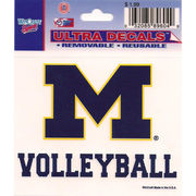 Wincraft Michigan Wolverines Volleyball Decal- 3 x 3.75