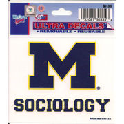 WinCraft University of Michigan Sociology Decal- 3 x 3.75