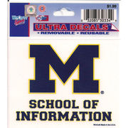 WinCraft University of Michigan School of Information Decal- 3 x 3.75