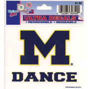 WinCraft University of Michigan Dance Decal- 3 x 3.75