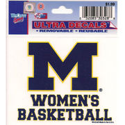 WinCraft University of Michigan Women's Basketball Decal- 3 x 3.75