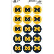 Pine University of Michigan Mini Block M Decals (15 Decals)