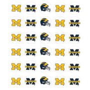 Pine University of Michigan Football Round Decal Sheet (30 Decals)