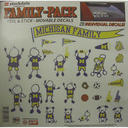 Stockdale University of Michigan Family Decals 28 Pack