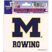 Wincraft Michigan Wolverines Rowing Decal- 3 x 3.75