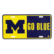 MCM University of Michigan M Go Blue License Place
