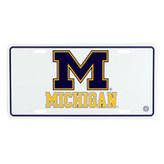 MCM University of Michigan White M License Plate