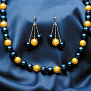 Honora Cultured Pearls University of Michigan Navy & Yellow Pearl Necklace