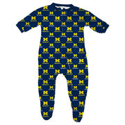 Genuine Stuff University of Michigan Infant All Over Print Footed Pajama