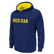 Outerstuff University of Michigan Youth Navy Full Zip Hooded Sweatshirt