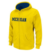 Outerstuff University of Michigan Youth Yellow Full Zip Hooded Sweatshirt