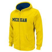 Outerstuff University of Michigan Youth Yellow Full Zip Hooded Sweatshirt