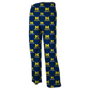 Genuine Stuff University of Michigan Youth Navy All Over Print Sleep Pant