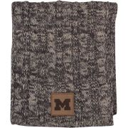 Ahead University of Michigan Women's Gray/Ivory Cable Knit Scarf