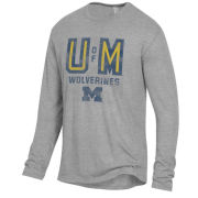 Alternative Apparel University of Michigan Smoke Gray Long Sleeve Keeper Tee