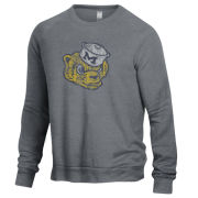 Alternative Apparel University of Michigan College Vault Wolverine Echo Gray Crewneck Sweatshirt