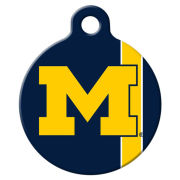 All Star Dogs University of Michigan Block ''M'' Logo Dog Tag