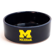 All Star Dogs University of Michigan Navy Ceramic Small Dog Dish