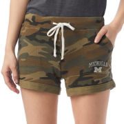 Alternative Apparel University of Michigan Women's Camouflage Burnout French Terry Shorts