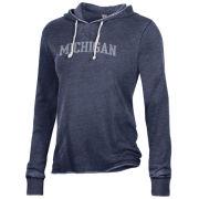 Alternative Apparel University of Michigan Women's Navy Day Off Hooded Sweatshirt