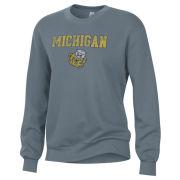 Alternative Apparel University of Michigan Women's Washed Denim College Vault Throwback Crewneck Sweatshirt