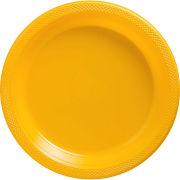 Amscan University of Michigan Plain Yellow 20ct 7'' Plastic Party Plate