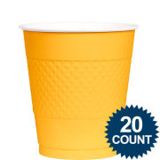 Amscan University of Michigan Plain Yellow 20 Count Yellow Plastic Party Cups