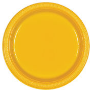 Amscan University of Michigan Plain Yellow 20ct 10'' Plastic Party Plate