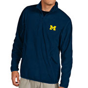 Antigua University of Michigan Navy Ice Polar 1/4 Zip Pullover Fleece