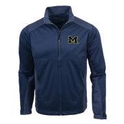 Antigua University of Michigan Navy/ Heather Navy ''Revolve'' Full Zip Jacket
