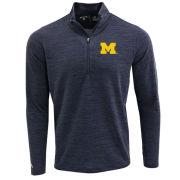 Antigua University of Michigan Heather Navy ''Bonsai'' 1/4 Zip Pullover