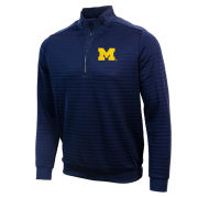 Antigua University of Michigan Navy Sanction 1/4 Zip Pullover