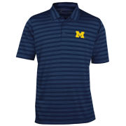 Antigua University of Michigan Navy ''Charge'' Multi-Stripe Polo