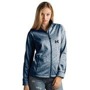 Antigua University of Michigan Ladies Heather Navy Golf Jacket