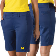 Antigua University of Michigan Women's Navy Network Performance Golf Shorts