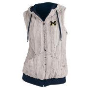Antigua University of Michigan Women's Navy Sherpa ''Rant'' Full Zip Vest