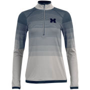 Antigua University of Michigan Women's Silver Speed 1/4 Zip Pullover