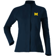 Antigua University of Michigan Women's Navy Full Zip Travel Jacket