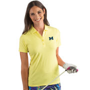 Antigua University of Michigan Women's Yellow ''Pearl'' Polo