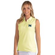 Antigua University of Michigan Women's Yellow ''Pearl'' Sleeveless Polo