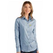 Antigua University of Michigan Women's Navy/White Structure Button Down Sport Shirt