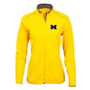 Antigua University of Michigan Women's Yellow Glacier Full Zip Microfleece Jacket