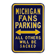 Authentic Street Signs University of Michigan Fan Parking Sign