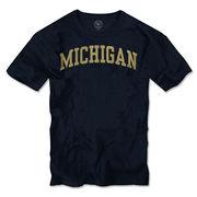 '47 Brand University of Michigan Navy Distressed Basic Tee