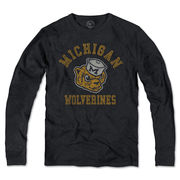 '47 Brand University of Michigan Long Sleeve Charcoal Vault Wolverine Tee