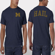 '47 Brand University of Michigan Fall Navy Hail Scrum Tee