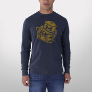 '47 Brand University of Michigan Navy Long Sleeve Vault Wolverine Tee