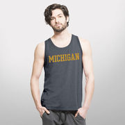 '47 Brand University of Michigan Navy Forward Shift Performance Tank Top
