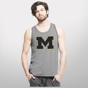'47 Brand University of Michigan Gray Forward Shift Performance Tank Top