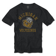 '47 Brand University of Michigan Charcoal Vault Wolverine Tee